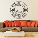 Familes are Forever Clock Face Wall Decal