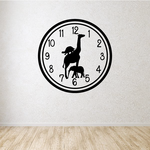 Wild Animal Clock Face Wall Decal
