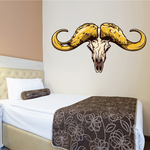 Animal Bull Skull Wall Decal - Vinyl Car Sticker - Uscolor001