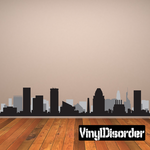 Baltimore Maryland Skyline Vinyl Decal