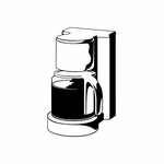 Coffee Pot and Maker Decal