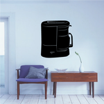 Coffee Maker Silhouette Decal