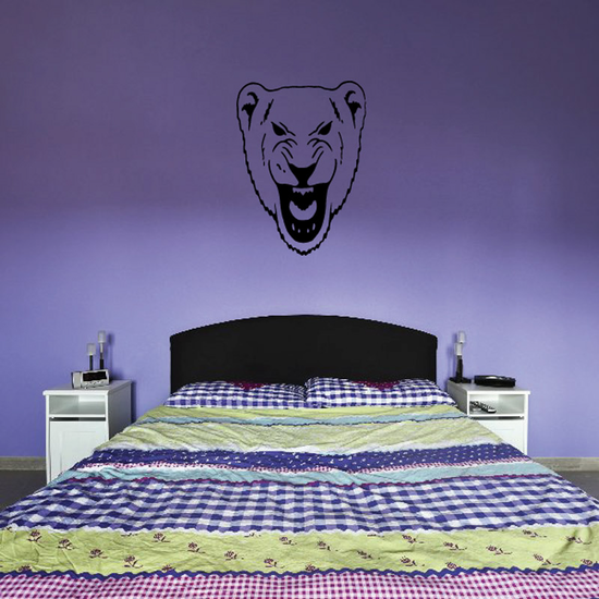 Lioness Head Growl Decal