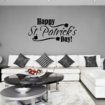 Flowing Happy St Patricks Day Decal