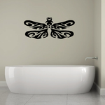 Floral Swirl Dragonfly Wing Decal