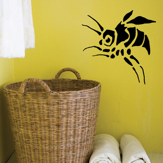 Leaping Winged Bug Decal