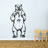 Attacking Bear Decal