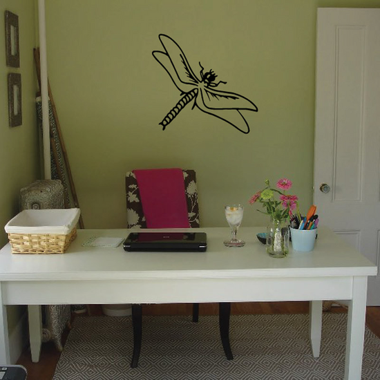 Graceful Floating Dragonfly Decal