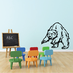 Leaping Bear Decal