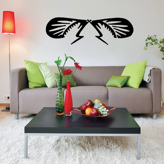 Wings and Antenna Insect Decal