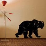 Walking Grizzly Bear Decal