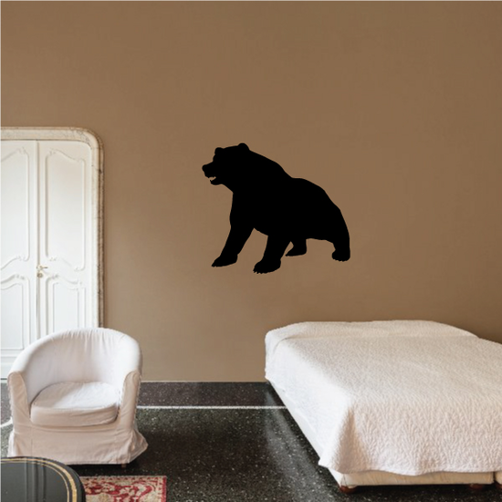 Sitting Up Bear Decal