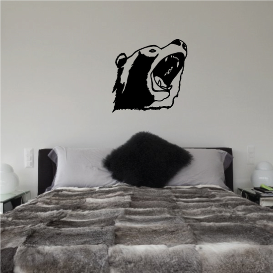 Growling Grizzly Bear Decal