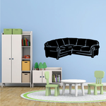 L Shape Couch Decal