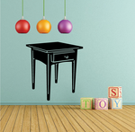 End Table with Drawer Decal