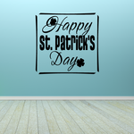Happy St Patricks Day Square Decal