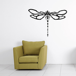 Beaded Tail Wide Wing Dragonfly Decal