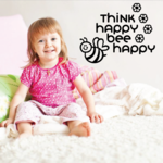 Think Happy Bee Happy Decal