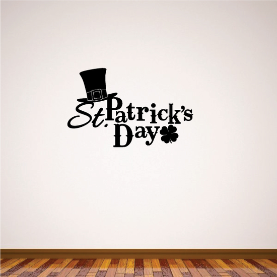 St Patrick's Day with Top Hat Decal