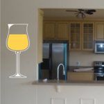 Wine Glass with champagne Sticker