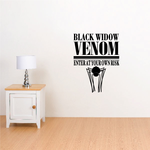 Black Widow Venom Enter at Your Own Risk Decal