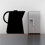 Water Pitcher Silhouette Decal