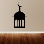 Islamic Mosque Tip with Crescent Moon Decal