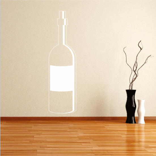 Wine Bottle with Cork Sticker