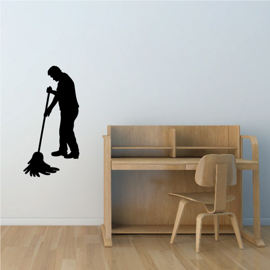 Janitor Mopping Decal