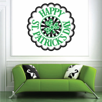 Rounded St Patricks Day Typography Decal