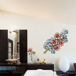 Japanese Floral Cherry Blossom Wall Decal - Vinyl Car Sticker - Uscolor003