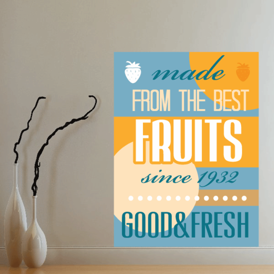 Made From The Best Fruits Stciker