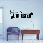 Kiss Me I'm Irish Clover Decal