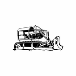 Farmers Bulldozer with Treads Decal