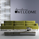 Leprechauns Welcome Clover Decal
