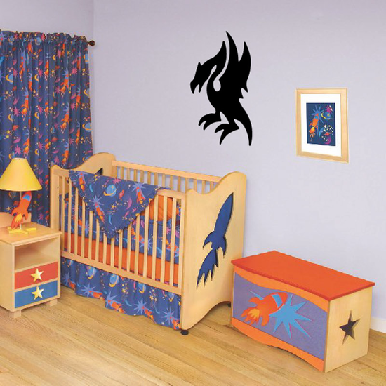 Perched Dragon Decal