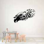 Eagle Head and Checkers Decal
