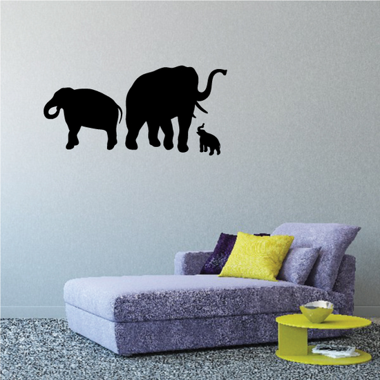 Adorable Elephant Family Decal