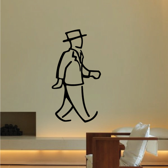 Man Top Hat Wall Decal - Vinyl Decal - Car Decal - Business Decal - MC30