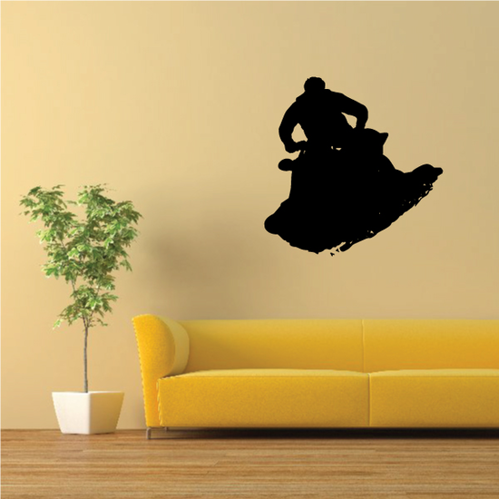 Guy Riding At You Jet Ski Decal