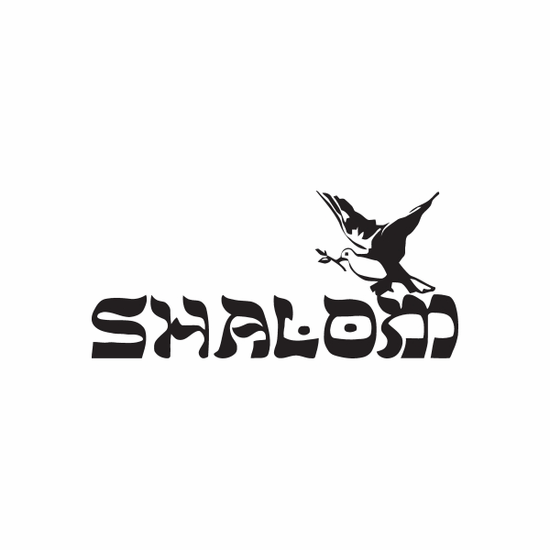 Shalom Dove Decal