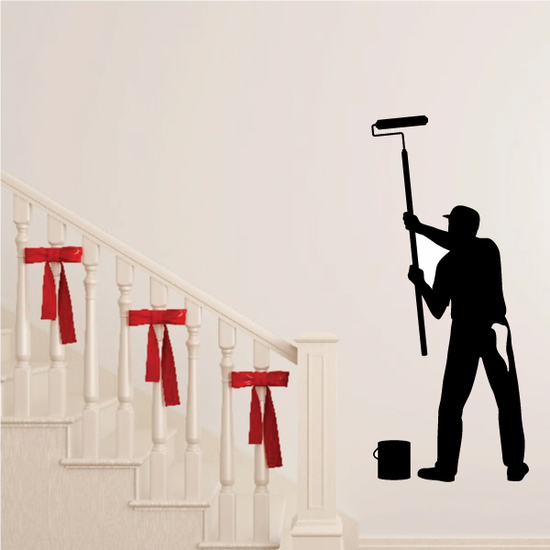 Painter with Roller Brush Decal