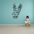 Feathered Stroke Style Eagle Decal