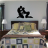 Romantic Lovers About to Kiss Decal