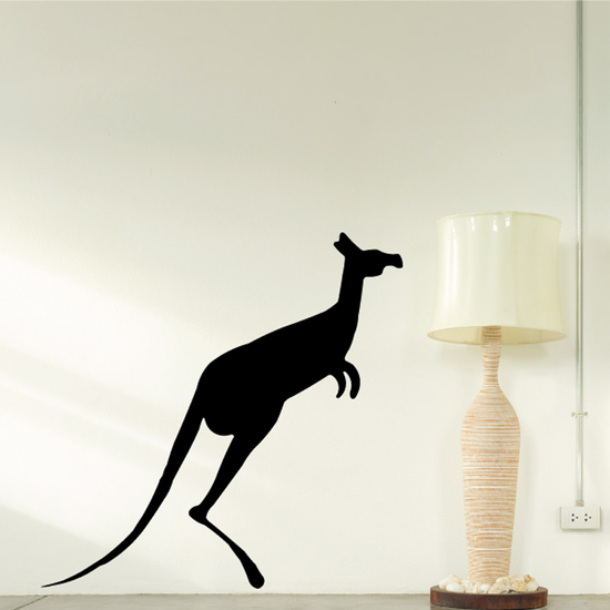 Minimal Kangaroo Jumping Decal