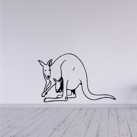 Mother Kangaroo and baby Decal