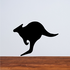 Round Kangaroo Decal
