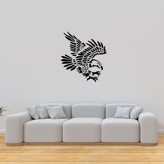 Feathered Reaching Eagle Decal