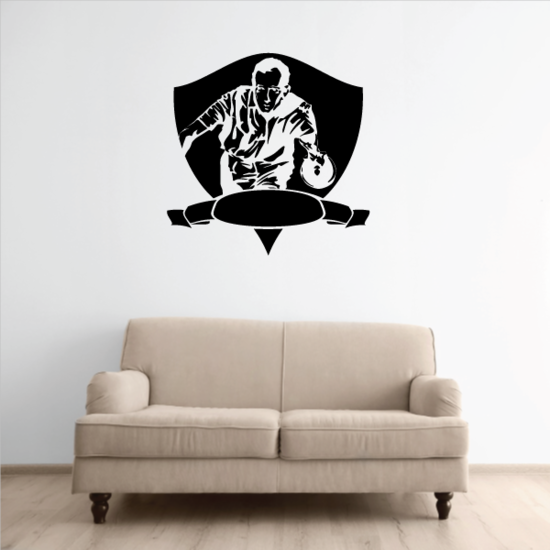 Bowling Template Crest Decal