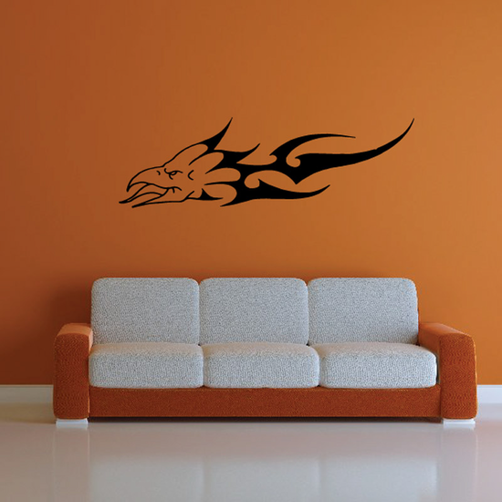 Tongue Out Fire Eagle Head Decal